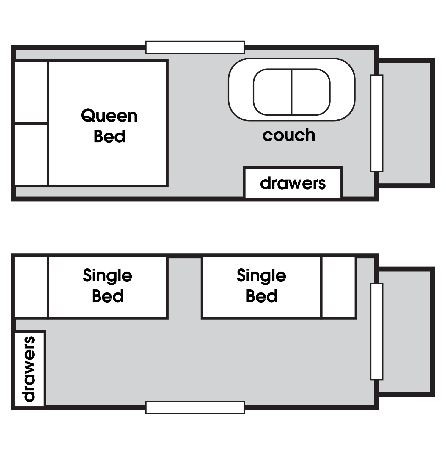 floor plan for tasman portable cabin for rent
